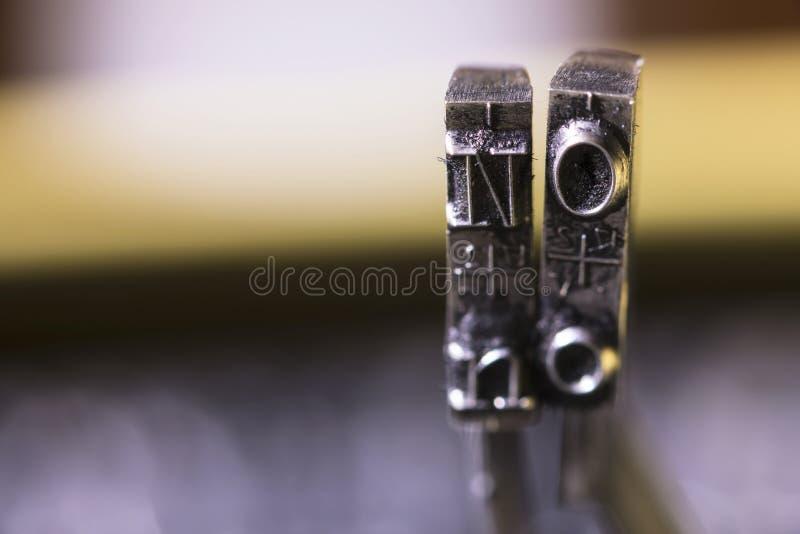 Schreibmaschinen-Hämmer NEIN lizenzfreies stockbild