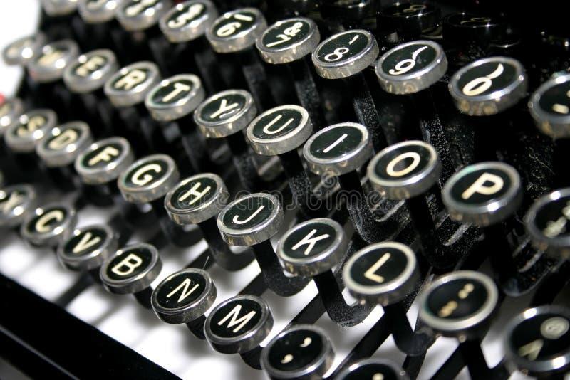 Schreibmaschinen-Tasten lizenzfreies stockbild