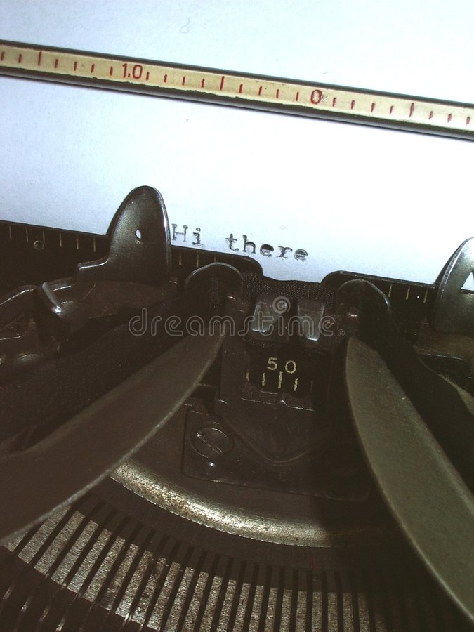 Schreibmaschinenmakro Lizenzfreie Stockfotografie