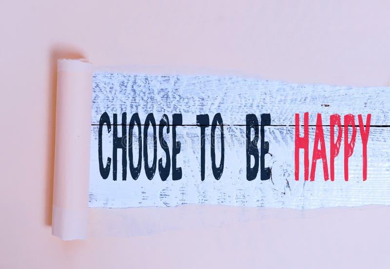 Schreibnotiz mit dem Titel Choose to be glücklich Business-Foto-Showcase Entscheidung in einer guten Laune Smiley fröhlich froh stockfotografie