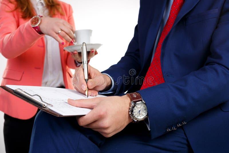 Schreibt das Dokument lizenzfreie stockfotografie