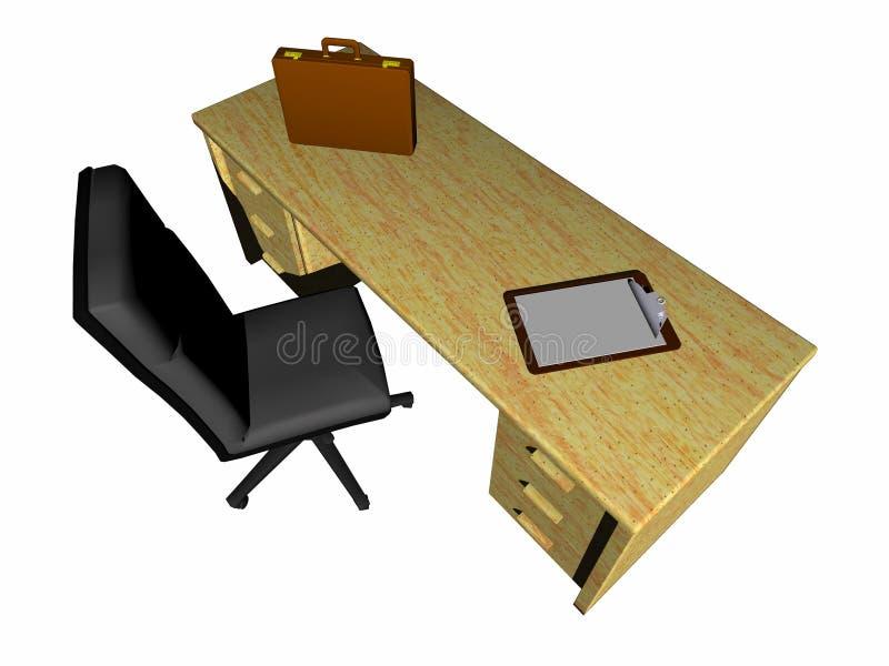 Schreibtisch. lizenzfreie abbildung