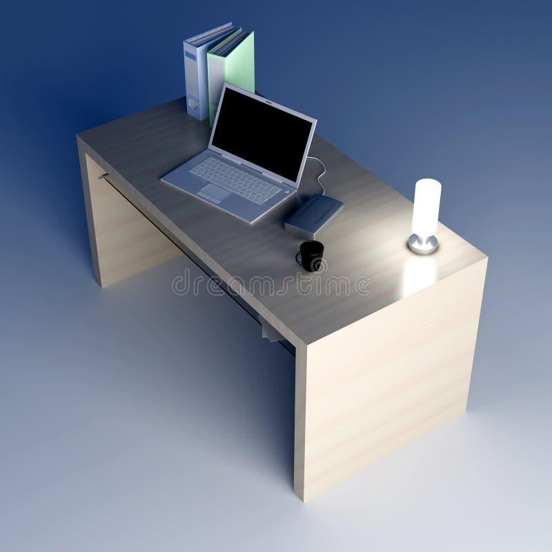Schreibtisch lizenzfreie abbildung