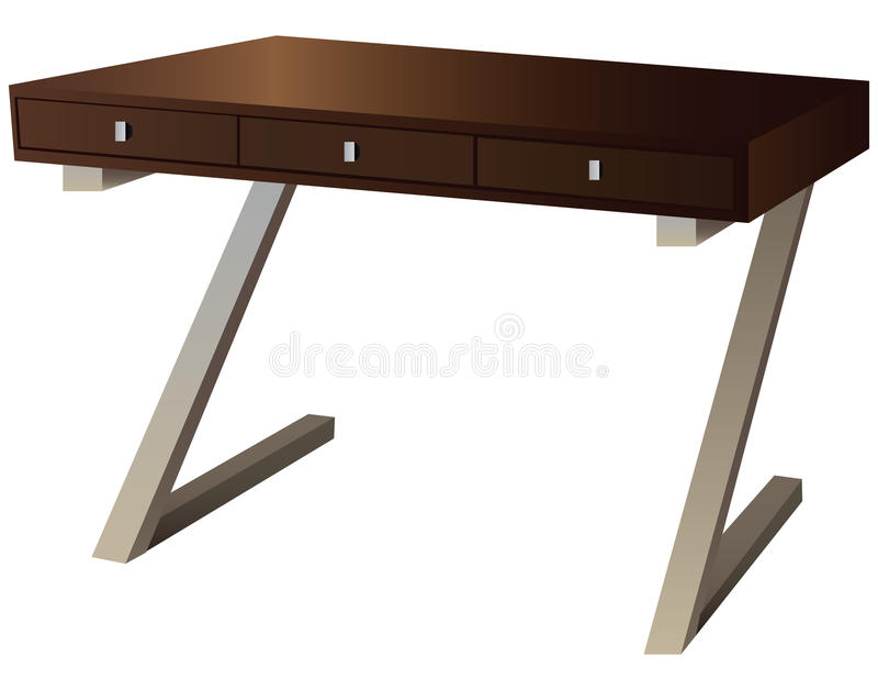 Schreibtisch stock abbildung