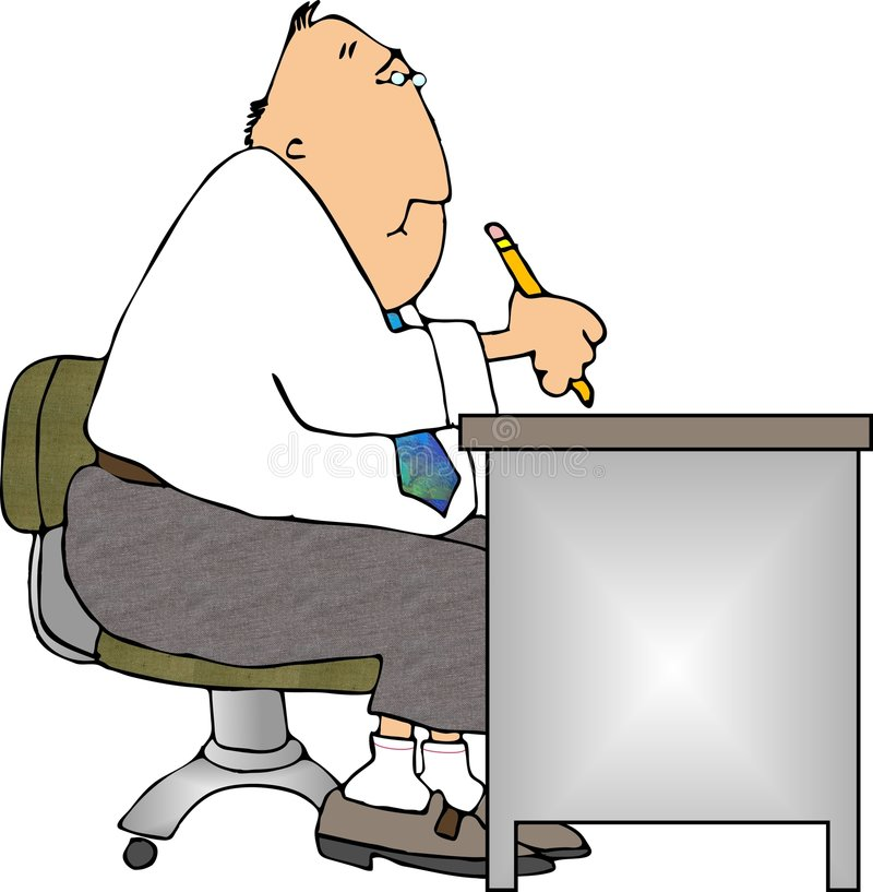 Schreibtisch-Arbeit stock abbildung
