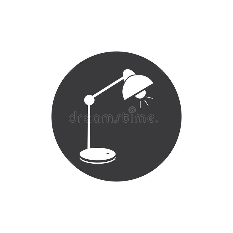 Schreibtisch Lamp stock abbildung
