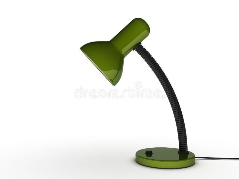 Schreibtisch-Lampe lizenzfreie abbildung