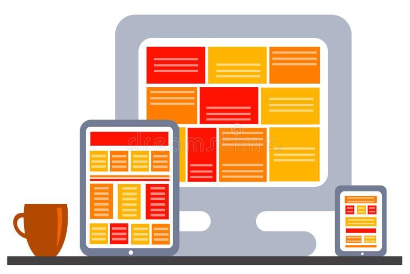 Download Schreibtischarbeit stock abbildung. Illustration von laptop - 47100568