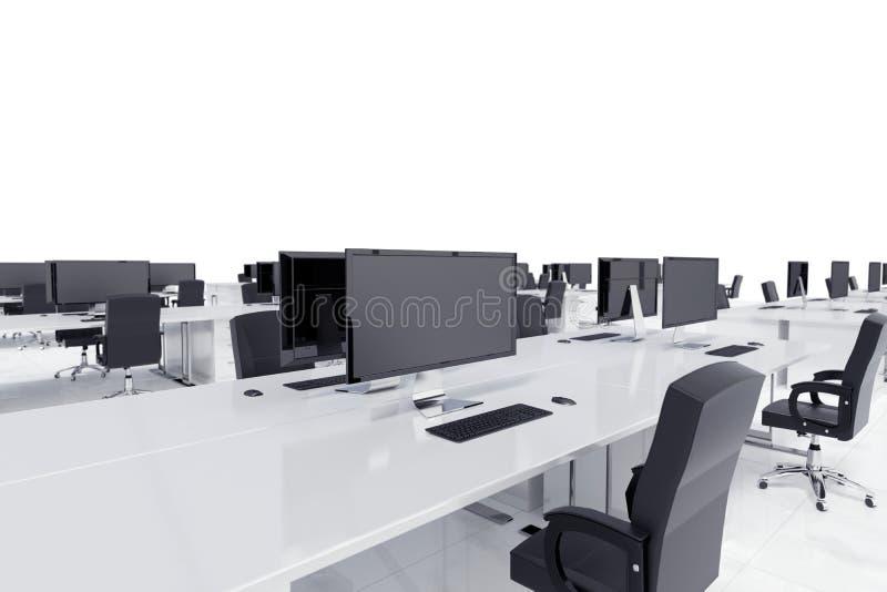 Schreibtische in einem offenen Raum vektor abbildung