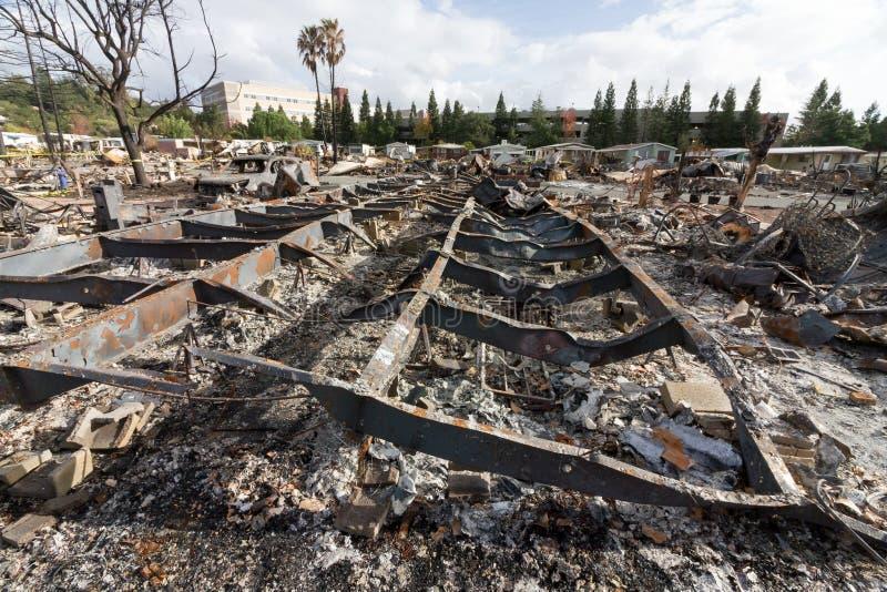 Schreien in den Sucher: Ein Monat nach dem Sonoma 2017 Coun stockbild