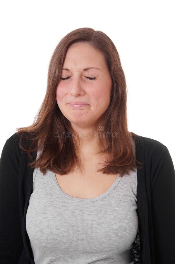 Schreien der jungen Frau stockfotos