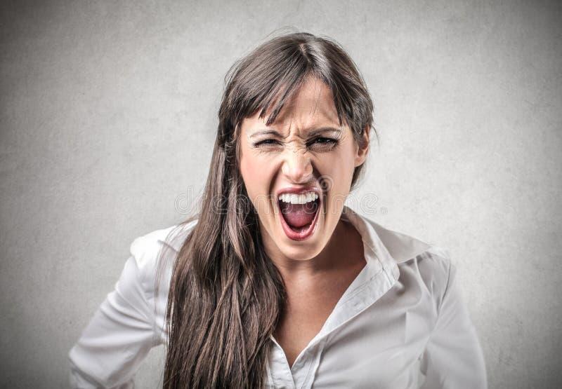 Schreiende Frau stockfoto
