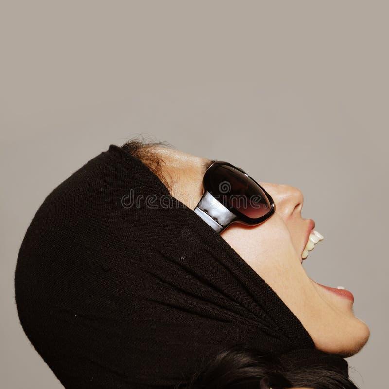 Schreiende Frau lizenzfreies stockbild