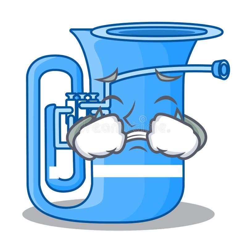 Schreiende Tuba in der lustigen Karikatur der Form stock abbildung