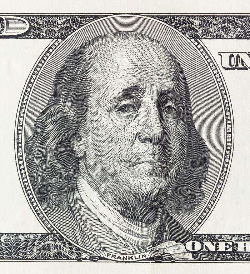 Schreiender Präsident Franklin lizenzfreie stockfotos