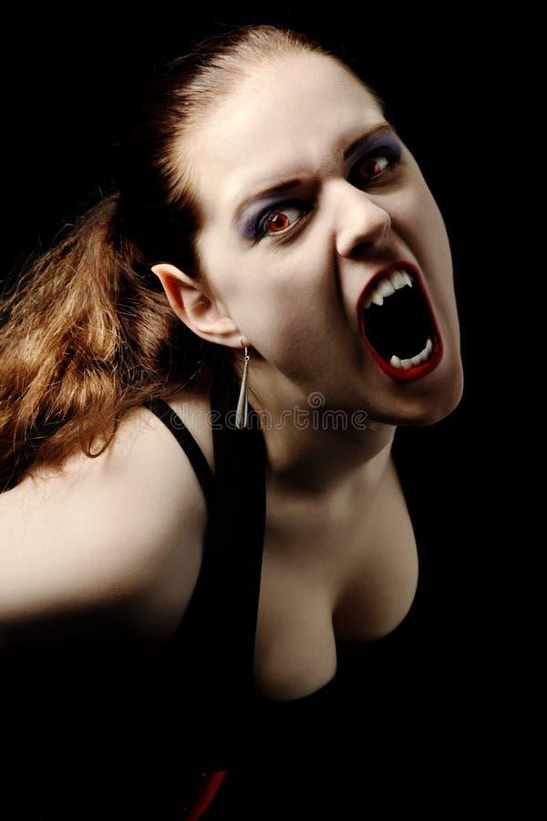Schreiender Vampir Stockbild