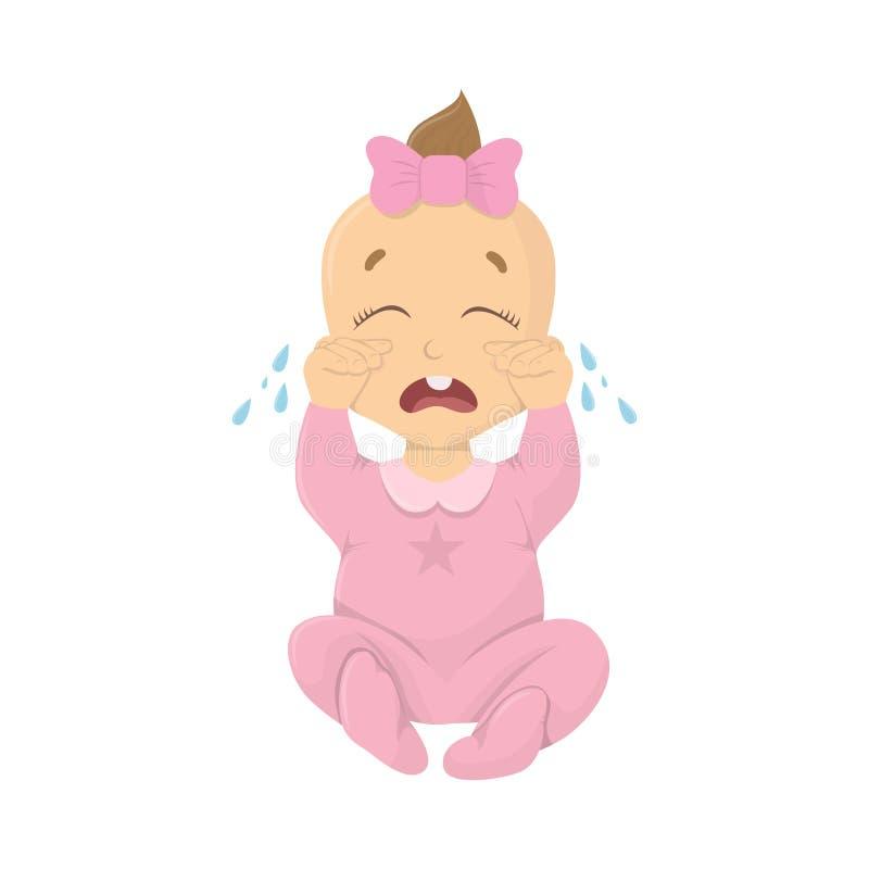 Schreiendes Baby lizenzfreie abbildung