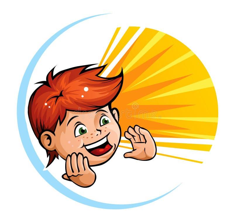 Schreiendes Kind vektor abbildung