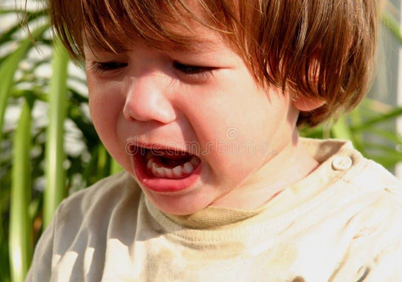 Schreiendes Kind stockfotografie