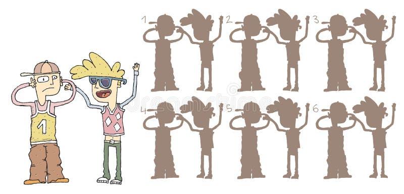 Schreiendes Schatten-Sichtbarmachungs-Spiel Lizenzfreie Stockbilder