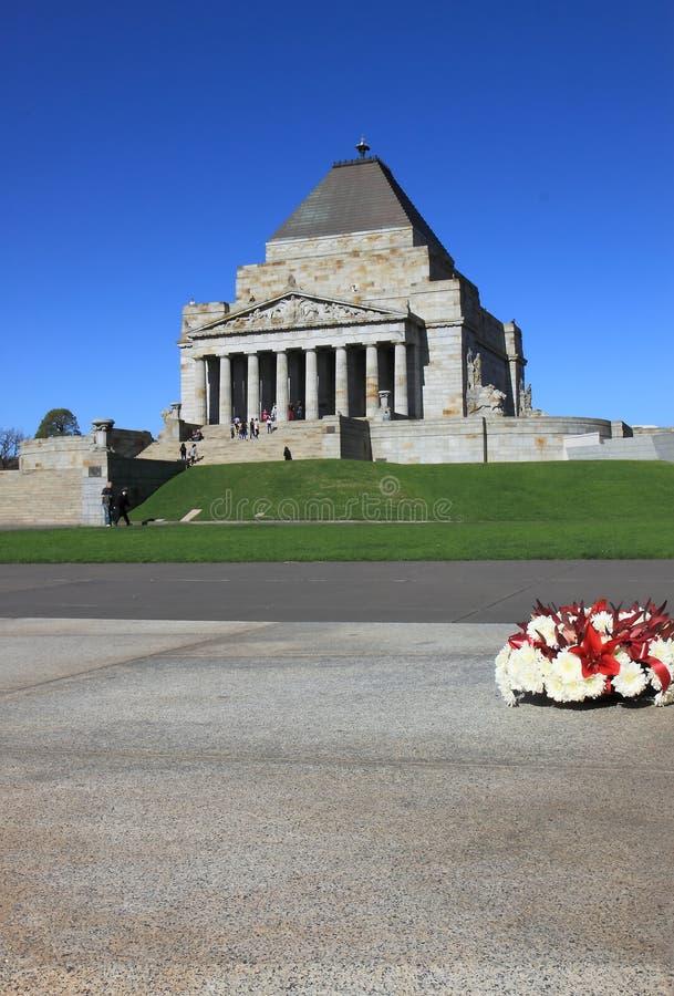Schrein der Erinnerung Melbourne  lizenzfreie stockfotografie