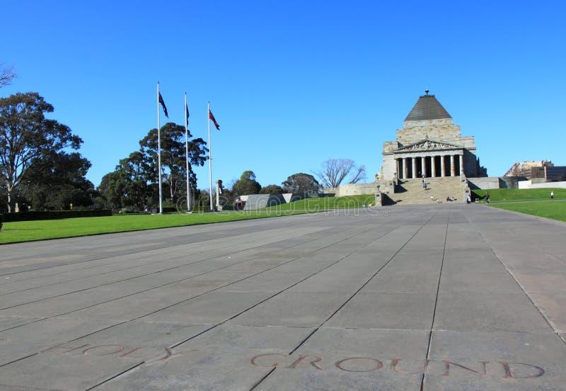 Schrein der Erinnerung Melbourne stockfoto
