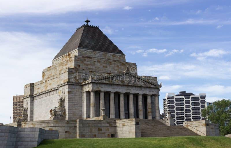 Schrein der Erinnerung Melbourne lizenzfreie stockfotos