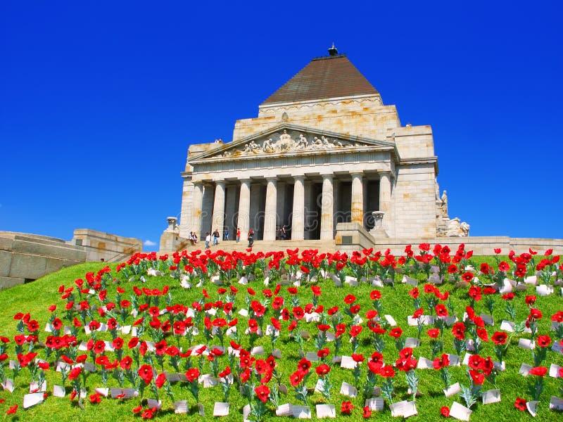 Schrein der Erinnerung Melbourne Australien lizenzfreie stockbilder