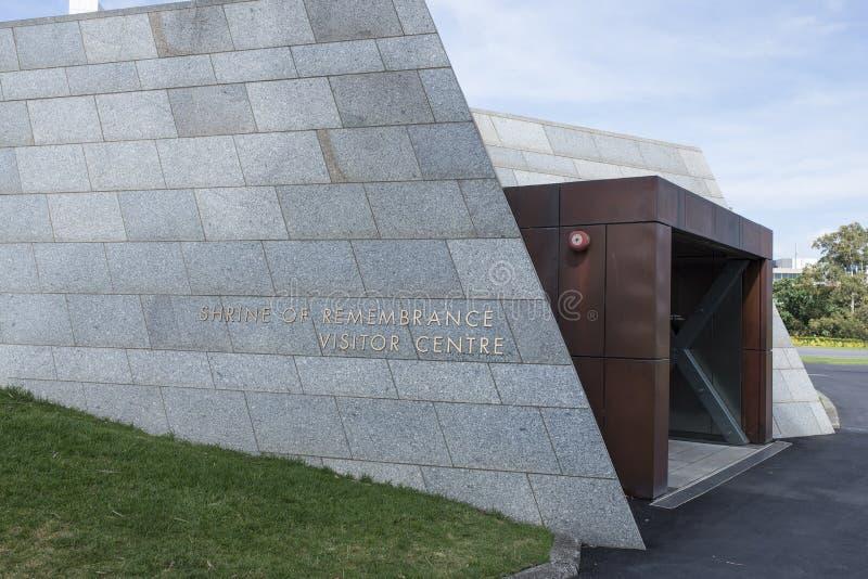 Schrein der Erinnerungs-Besucher-Mitte, Melbourne, Asutralia lizenzfreie stockbilder