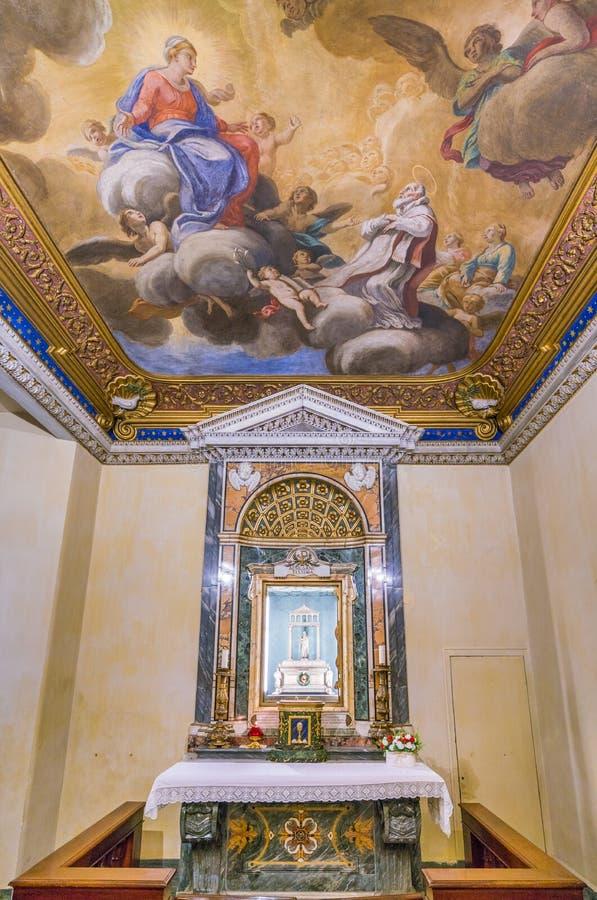 Schrein des Heiligen Agnes in der Kirche von Sant-` Agnese in Agone in Rom, Italien stockfoto