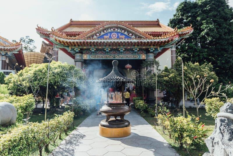Schrein für Gebete bei Kek Lok Si Temple bei George Town Panang, Malaysia stockbilder