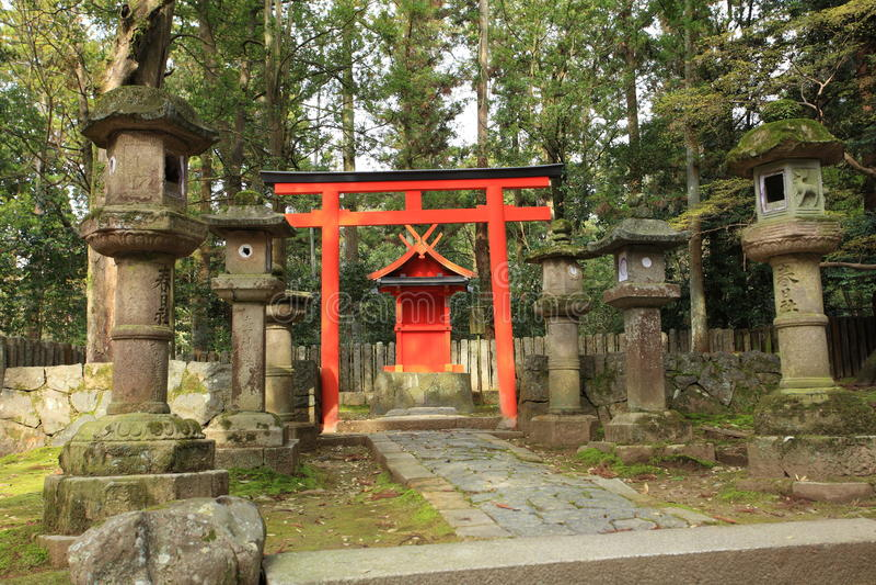 Schrein Kasuga Taisha, Nara, Japan lizenzfreies stockbild