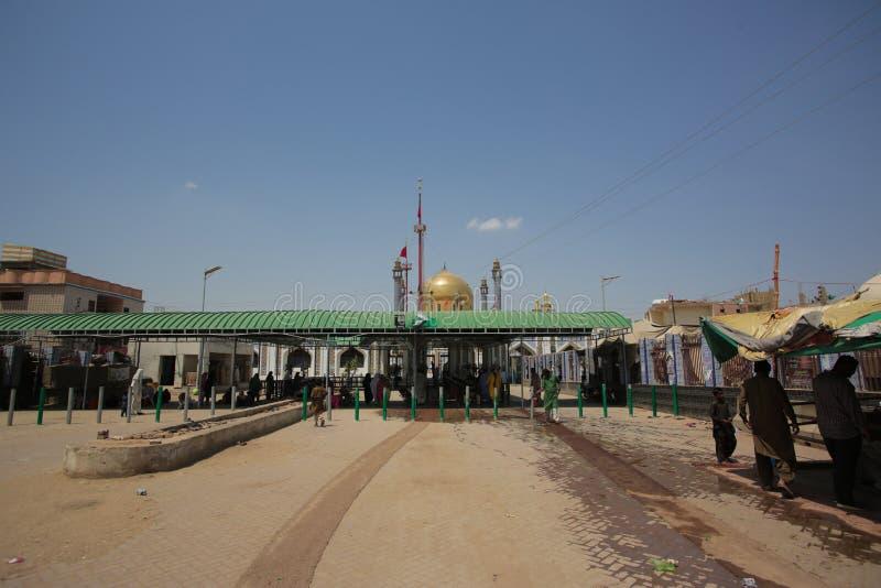 Schrein moslemischen Heiligen Lal Shahbaz Qalandar Famouse Sufi lizenzfreie stockbilder