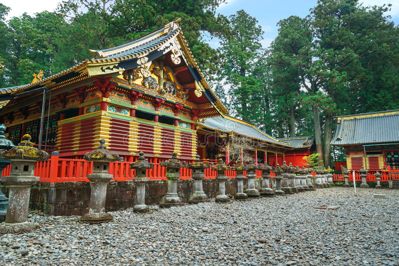 Schrein Nikko Toshogu in Nikko, Japan lizenzfreie stockfotos