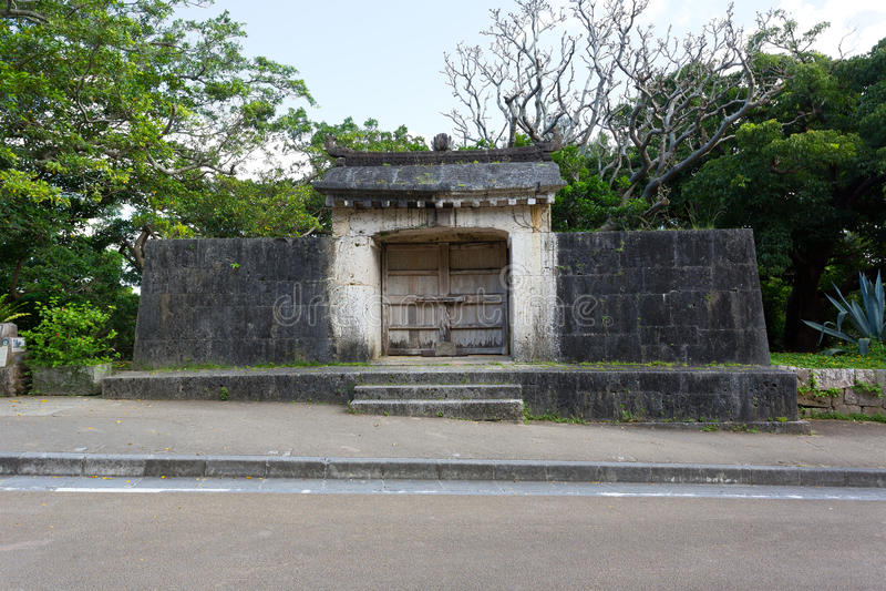 Schrein Sonohyan Utaki von Shuri-Schloss, Japan lizenzfreies stockbild