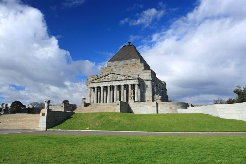 Schrein von Remembrance.Melbourne lizenzfreies stockfoto