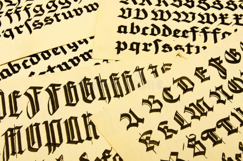 Schrift0310a стоковая фотография rf
