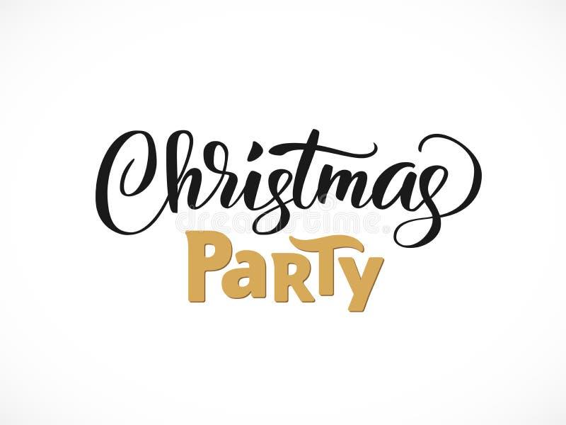 Schriftliche Beschriftung des Weihnachtsfests Hand, moderne Kalligraphie Typografie lokalisiert auf weißem Hintergrund, Vektorill lizenzfreie abbildung
