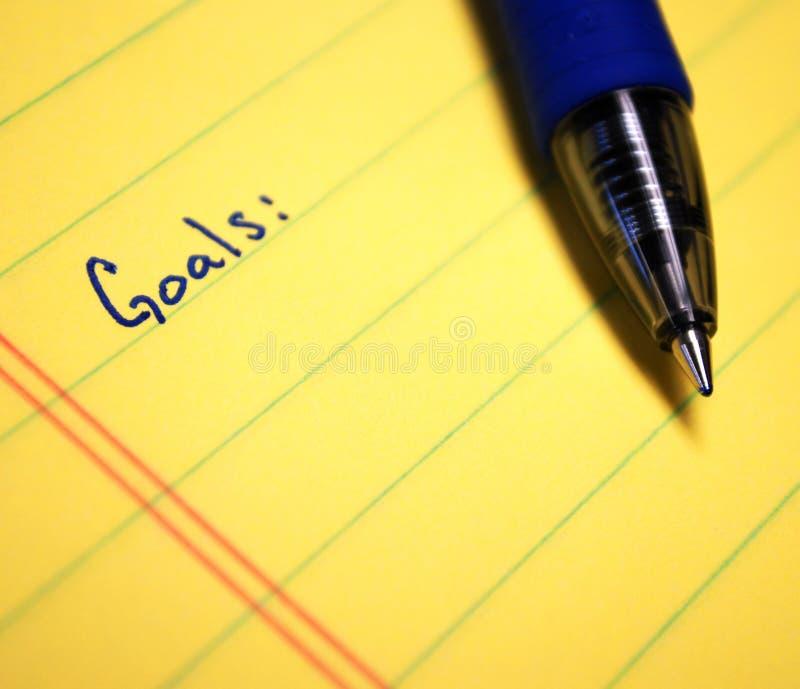 Schriftliche Ziele