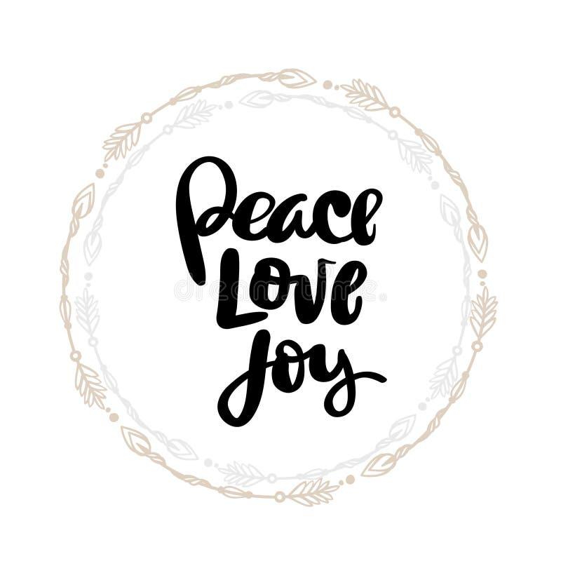 Download Schriftliches Typografieplakat Der Friedensliebe Joy Hand Vektor Abbildung - Illustration von auslegung, papier: 96934420