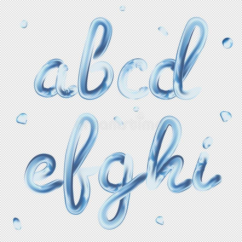Schrifttyp 3D Transparente Buchstaben A, B, C, D, E, F, G, H, I ...