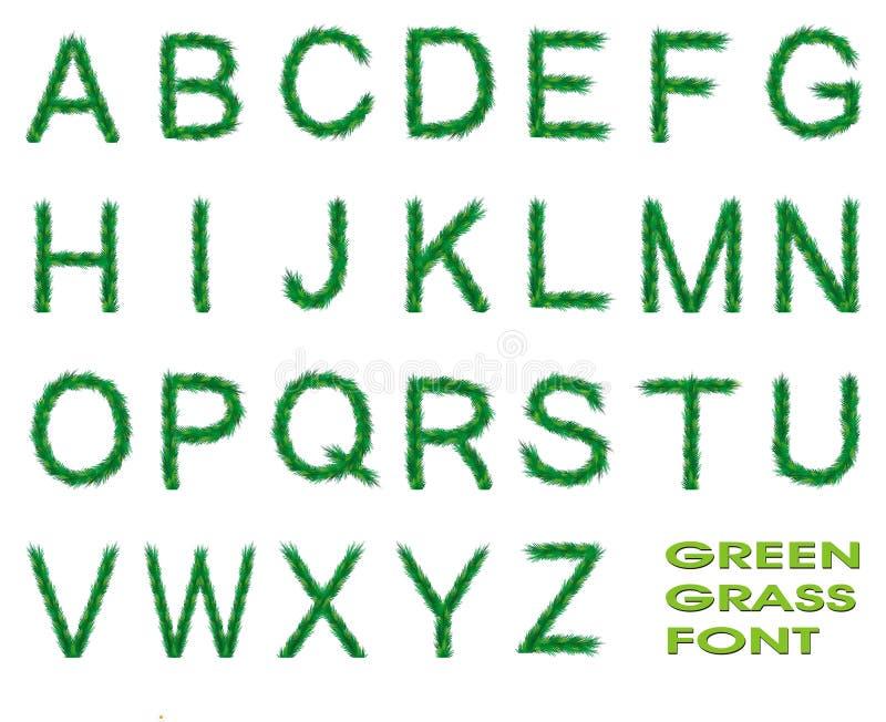 Schrifttyp des grünen Grases lizenzfreie abbildung