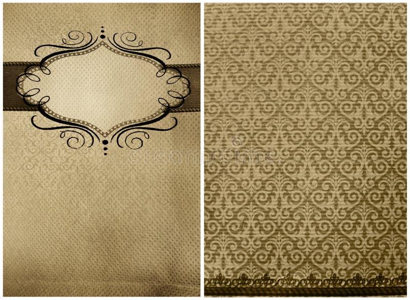 Schrifttyp und Rückseite, Auszug des Grunge Gaststättemenüs lizenzfreie stockfotos