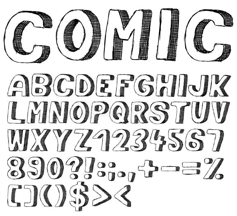 Schrifttypgekritzel vektor abbildung