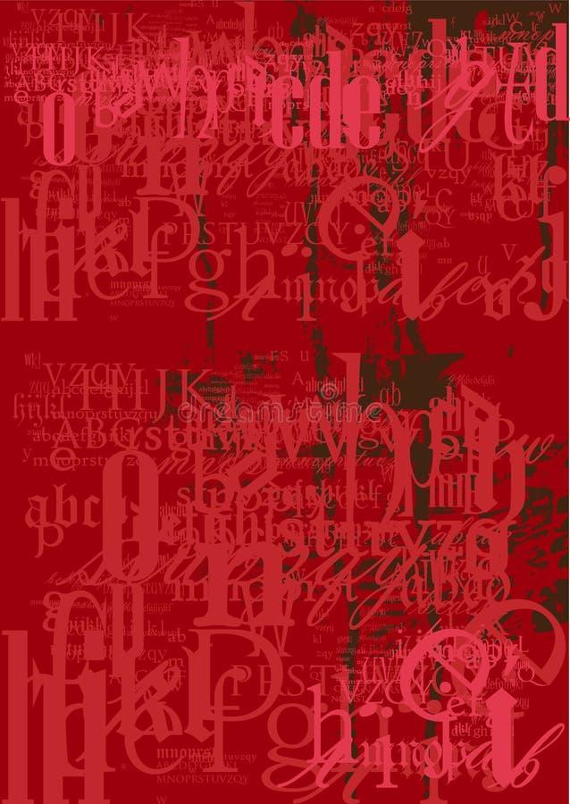 Schrifttyphintergrundbeschaffenheit lizenzfreie abbildung