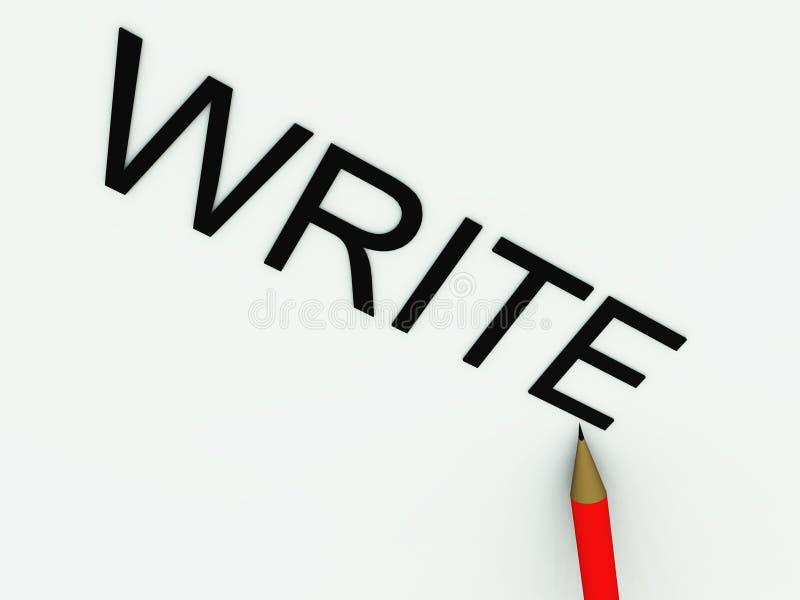 Schrijf 45 royalty-vrije illustratie