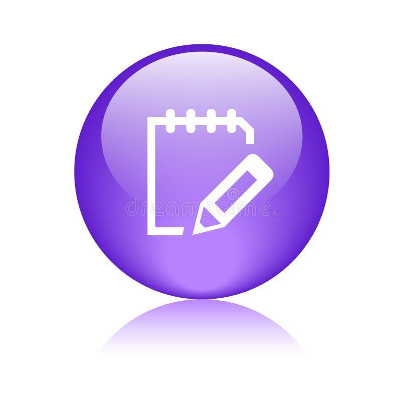Schrijf het Webknoop van het blocnotepictogram vector illustratie