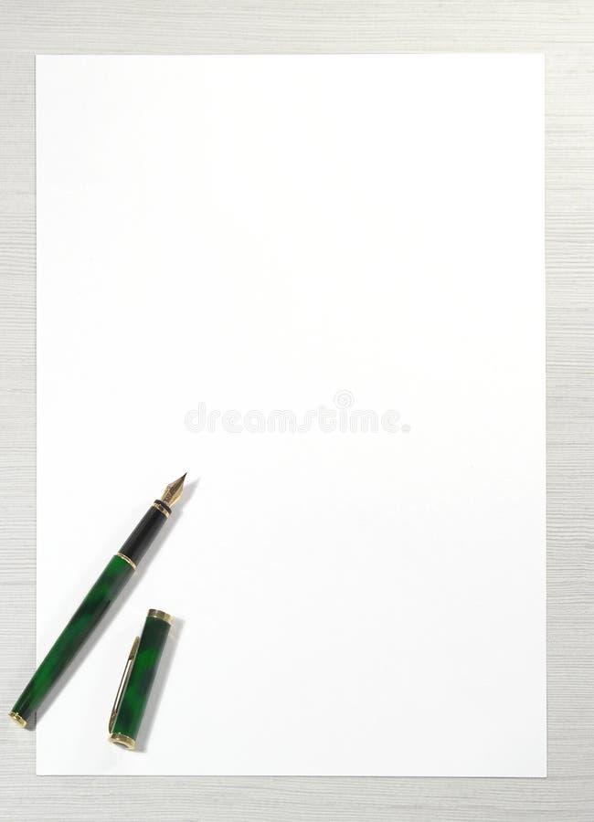 Schrijf me brief stock afbeelding