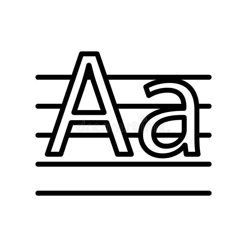 Schrijf met de hand met de hand pictogramvector op witte achtergrond wordt geïsoleerd, schrijf teken, de lineaire symbool en elem vector illustratie