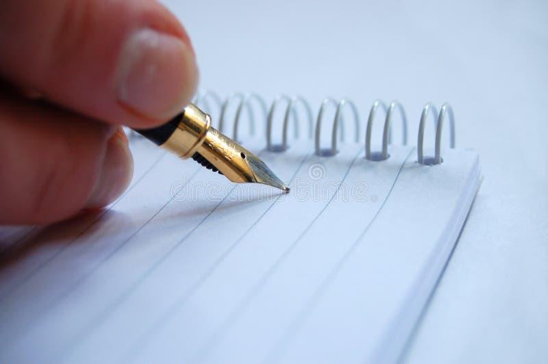 Schrijf op notitieboekje stock foto